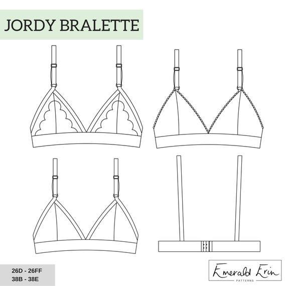 Patrón de costura de Jordy Bralette PDF | Etsy