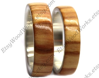 Wood Ring Olivewood Wooden Ring Wooden Wedding Ring Wood Etsy