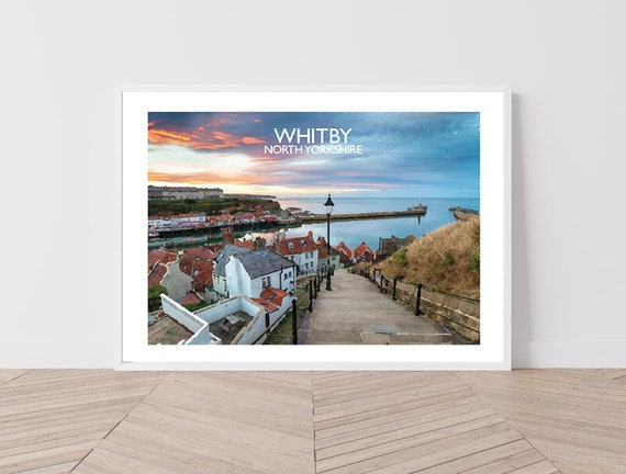 Whitby, North Yorkshire. Art Print / Travel Poster Hand Signed by David from Salty Seas