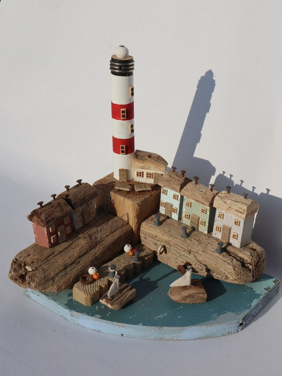 Driftwood Houses - Handmade and Original Sculpture by David from Salty Seas no76