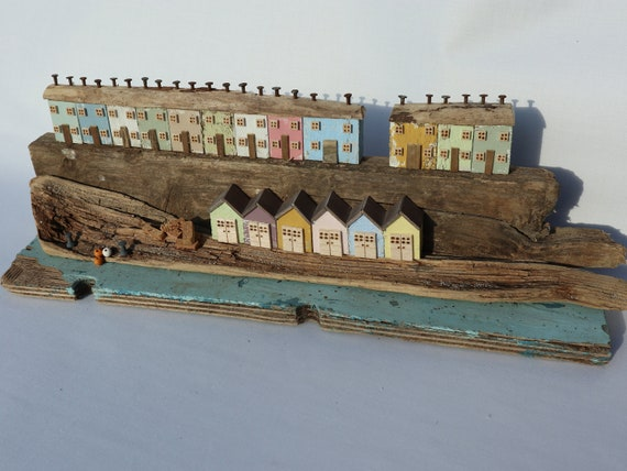 Driftwood Houses - Handmade and Original Sculpture by David from Salty Seas no86