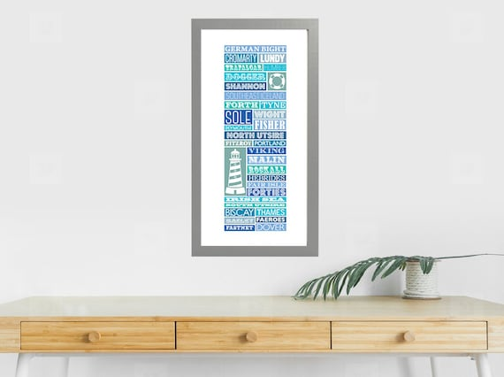 A Typographic Illustration of the Shipping Forecast