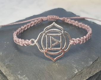 Root Chakra Charm Bracelet ~ Muladhara Chakra ~ meditation bracelet ~ Linhasita Bracelet ~ Chakra Bracelet
