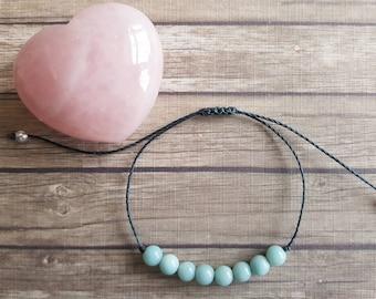 Amazonite bracelet | truth ~ communication ~ harmony ~ cellular regeneration ~ healing from trauma ~ gout ~ arthritis