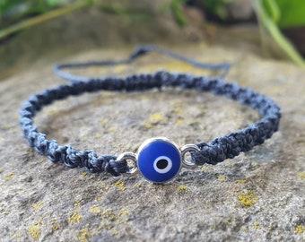 evil eye charm bracelet ~ adjustable bracelet ~ stacking bracelet ~ layered bracelets ~ fashion costume jewelry ~ girls bracelet