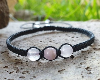 Rose Quartz & Kunzite bracelet | emotional healing ~ stress relief ~ releases past wounds ~ calms panic attacks + chronic anxiety