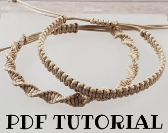 Basic Macrame Bracelet Tutorial Instant Download DIY How To Do It Yourself PDF Step By Instructions