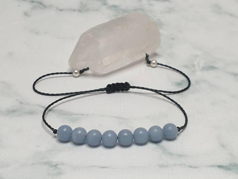 Angelite bracelet  promotes communication  self-expression  image 0