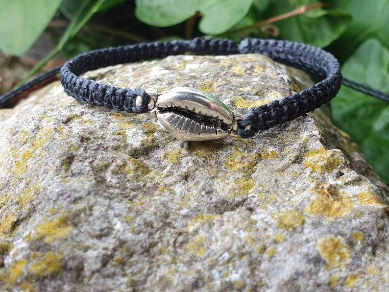 seashell charm bracelet  adjustable bracelet  stacking image 0