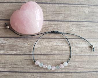 Rose Quartz Moonstone bracelet | inner peace ~ emotional healing ~ calmness ~ fertility bracelet Adjustable Bracelet, Jewelry For Women