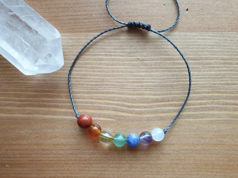 7 Chakra Bracelet Chakra Jewelry ~ Intention Jewelry ~ Meditation Jewelry ~ Aventurine bracelet ~ Agate bracelet ~ rainbow bracelet