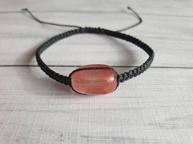 Red Gemstone Bracelet  Gemstone Adjustable Bracelet  New Age image 0