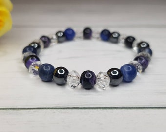 Charoite bracelet & Hematite bracelet ~ Insomnia Bracelet ~ Sodalite bracelet ~ Hematite bracelet ~ insomnia jewelry ~ sleep problems