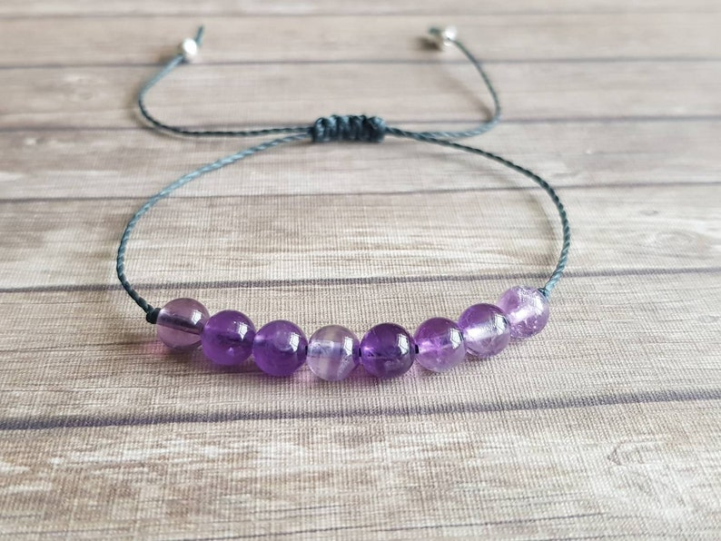 overcoming addictions Amethyst bracelet nerve disorders ~ clear negative or addictive emotional patterns ~ calm anxiety tinnitus