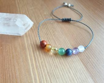 7 Chakra Bracelet - Chakra Jewelry ~ Intention Jewelry ~ Meditation Jewelry ~ Aventurine bracelet ~ Agate bracelet ~ rainbow bracelet