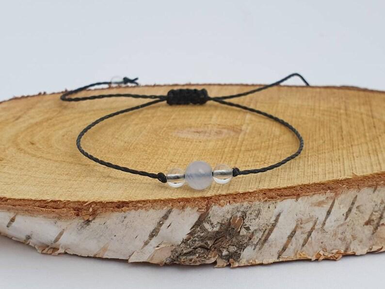 Blue Lace Agate Quartz Bracelet  calms the emotional body  image 0