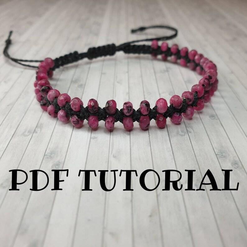 Beaded Friendship Bracelet Tutorial  DIY Macrame Pattern  Do image 0