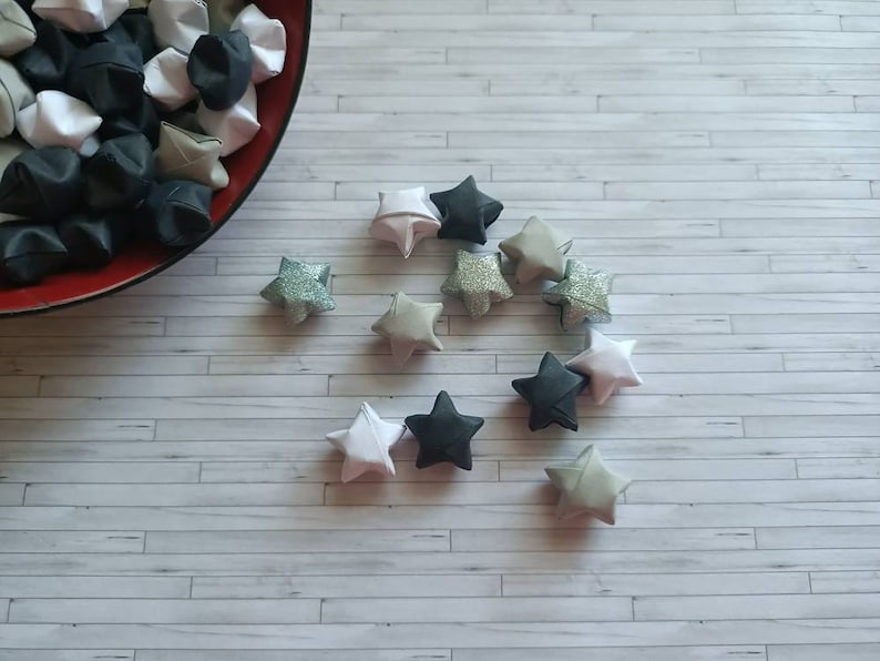79 mini origami stars  origami stars  lucky stars  mini image 0