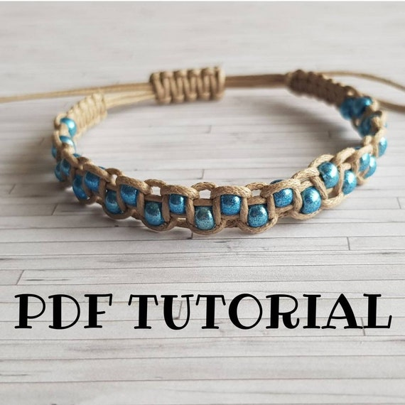 Beaded Friendship Bracelet Tutorial DIY Macrame Pattern Do ...