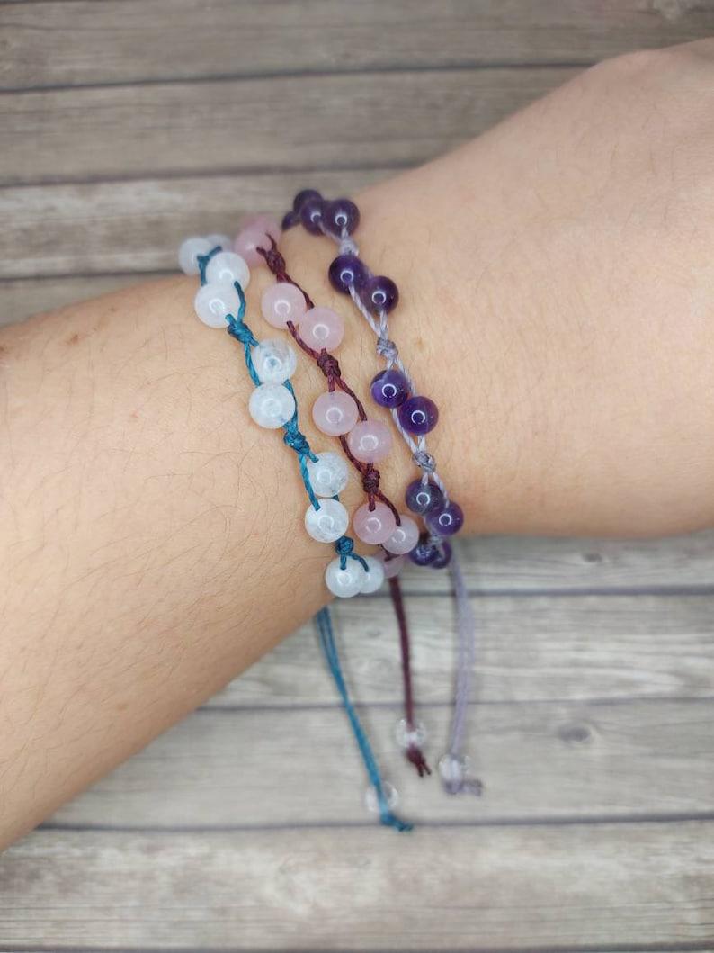 Crystal Bracelet  Everyday Bracelet  Rose Quartz bracelet  image 0