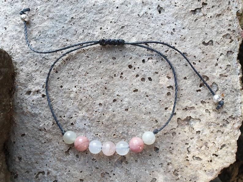 Fertility Bracelet  Moonstone Bracelet  Rose Quartz image 0