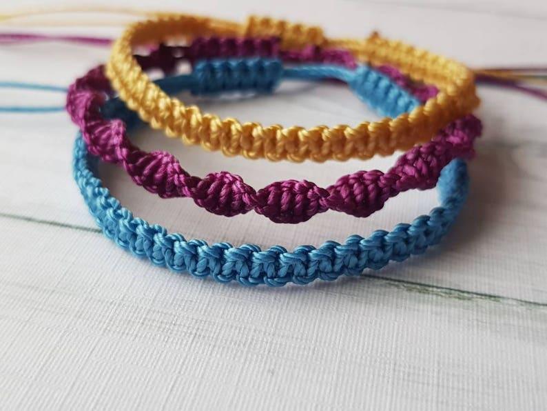 macrame bracelet minimalist jewelry best friend birthday image 0