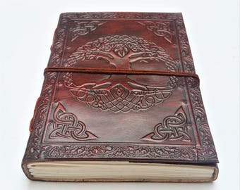 Tree of Life Leather Journal, Journal, Notebook, Diary, Mandala Notebook, Sketchbook.