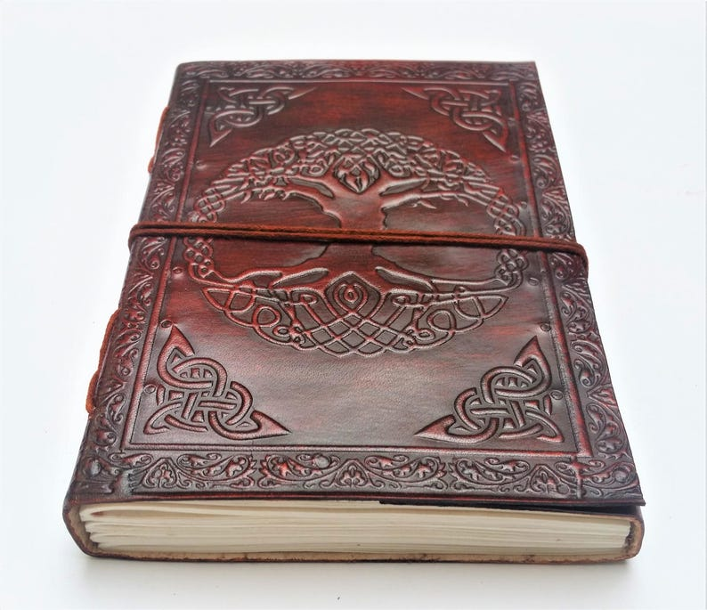 Tree of Life Leather Journal Journal Notebook Diary image 0