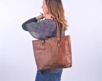 Leather Shoulder Bag, Handbag, Leather Bag, Boho Bag, Large Leather Bag.
