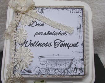 Large wellness Gift Set in chic packaging, vintage, shabby chic