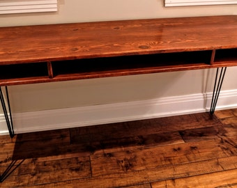 Reclaimed Wood Desk/Table with Hairpin Legs