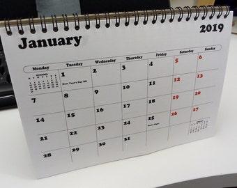 2019 a5 flip desk calendar uk