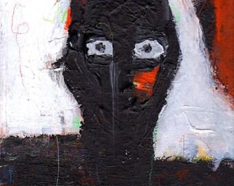 Acrylic painting, Night Man