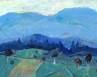 Buncombe County - North Carolina landscape acrylic painting