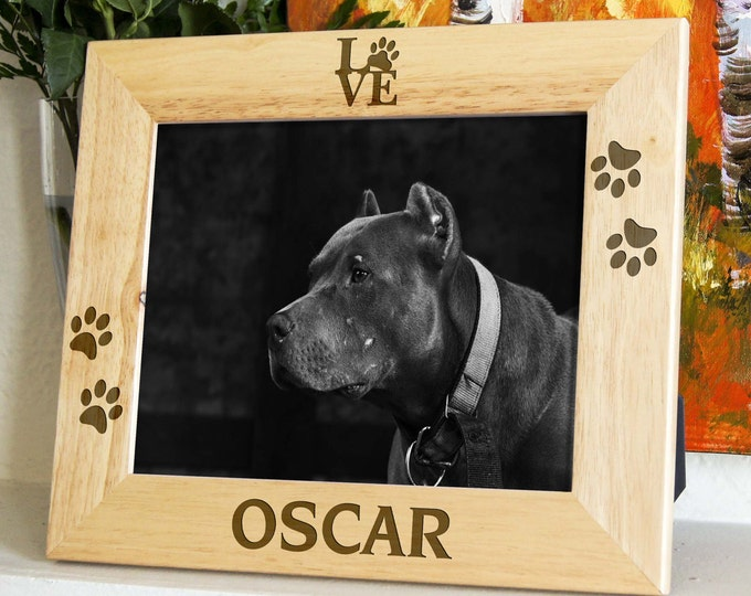 Personalized engraved frame, Custom photo frame, custom pets frame, engraved frames for dogs, pet's lovers frame