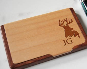 Engraved card holder etsy customized business cards holder personalized wooden business cards holder engraved business cards cases colourmoves