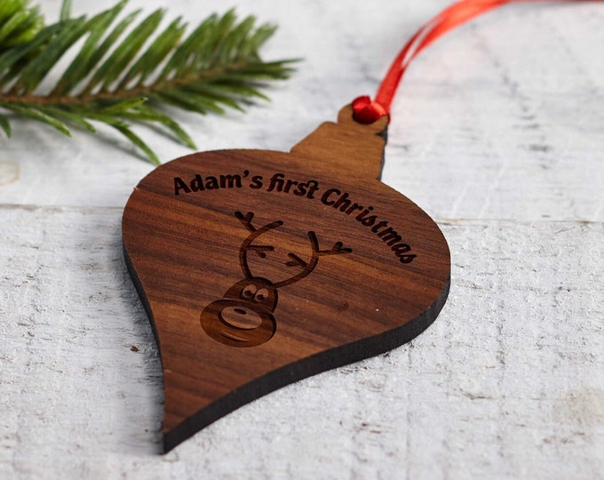 Christmas Ornament, Personalized wooden ornament, Christmas decoration, custom Christmas ornament, Christmas gift, engraved wood ornament