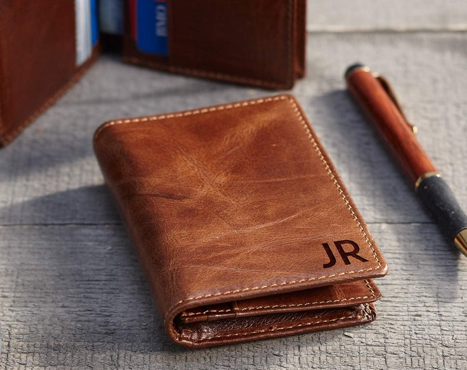 Minimalist wallet, personalized leather card holder, slim wallet, custom leather wallet, pocket wallet, Christmas gift, gift for him