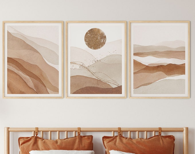 Set of 3 abstract Wall  Print, Landscape Poster, Personalized Print, Abstract Print, Personalized Poster, Custom Print