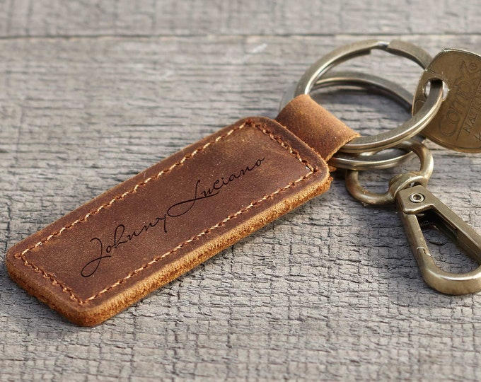 personalized key chains, Engrave Key Chains, Leather Key Chains