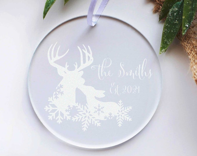 Christmas Ornament, Personalized Acrylic ornament, Christmas decoration, custom Christmas ornament, Christmas gift, engraved  ornament
