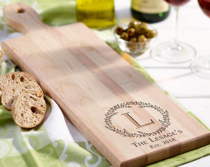 Personalized bread Board, customized cheese board, Birch paddle board, wedding gift, housewarming gifts, wedding gifts, Christmas gifts