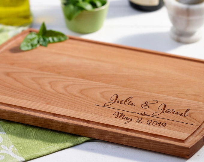 Personalized cutting board, Custom cutting board, Engraved cutting board, Wedding gifts, Gifts for the couple, Christmas gifts