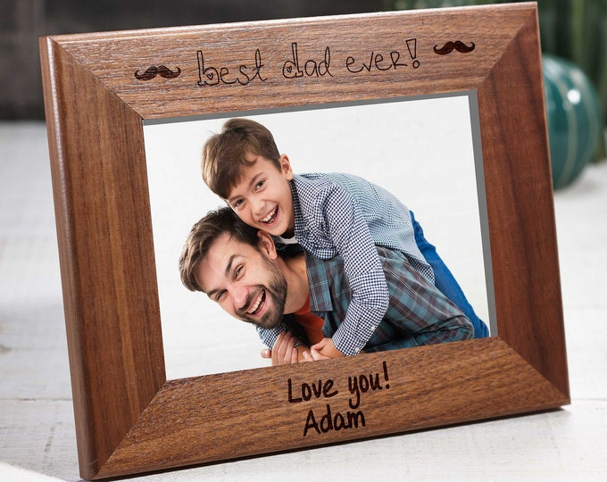 Personalized engraved Walnut frame, Custom photo frame, Frame for a couple, Fathers day gifts, 4x6 5x7 8x10 frame