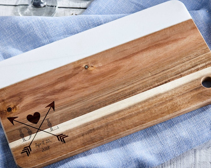 Personalized cheese board wood and marble, Custom cheese board , Engraved cutting board, Wedding gifts, Christmas gifts