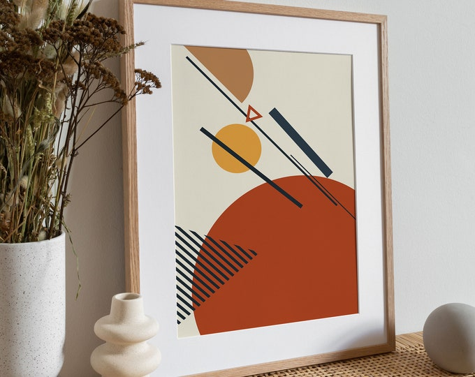 Abstract Wall Art Print, Constructivism Poster, Abstract Print, Modern Print, Custom Print