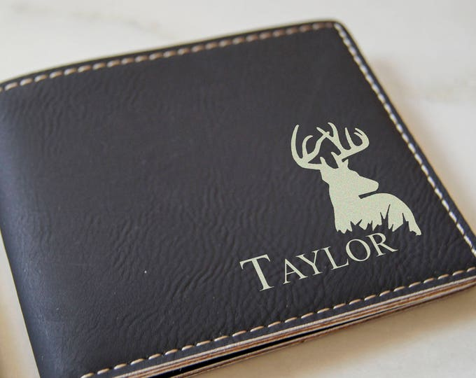 Mens wallet, Leatherette wallet, personalized wallet, Fathers day gift, customized wallet, Birthday gift