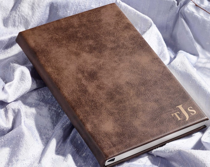 Personalized Journal, customized leatherette journal, Monogrammed journal, Engraved leather journal, lined journal, Personalized notebook