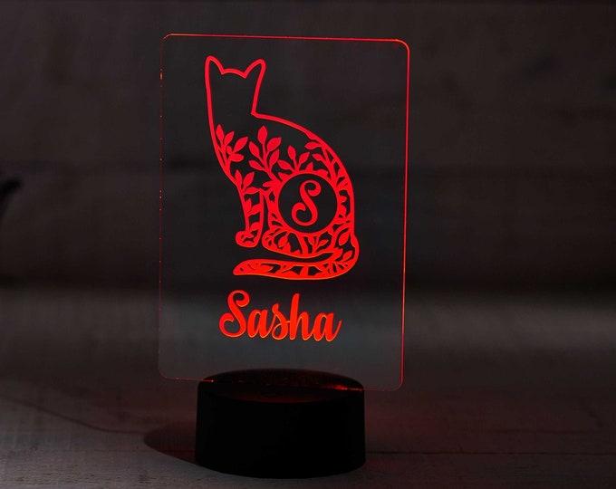Personalized Night Light for Kids, Kids Bedroom Décor, Gift for Kids, Nursery Lamp, Boy's bedroom lamp, Girl's Bedroom Lamp