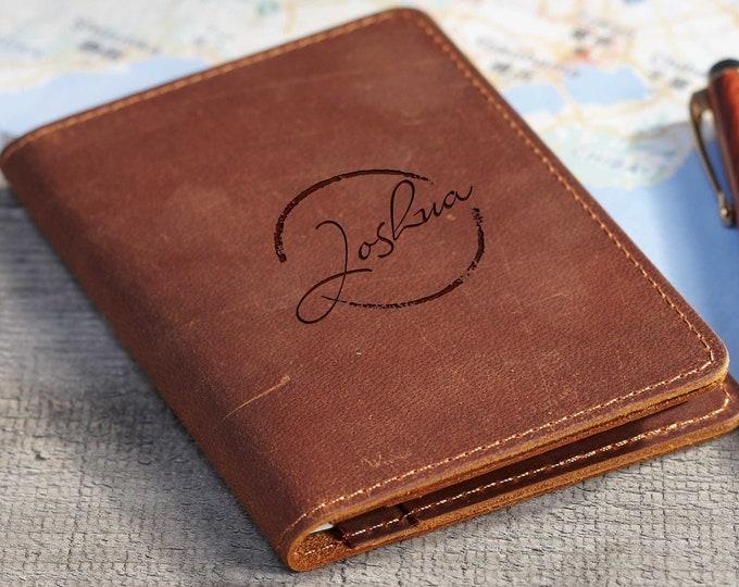 Custom Passport Cover,  Personalized Passport Holders, Engraved Passport Cover, Genuine leather  Passport wallet